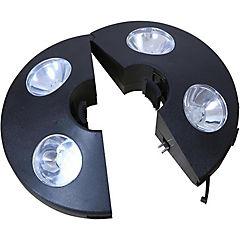 Luz para quitasol LED ABS 6 cm café