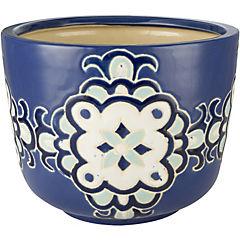 Macetero de cerámica 27x20 cm Azul
