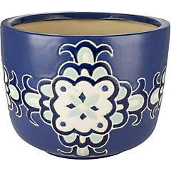 Macetero de cerámica 33x24 cm Azul