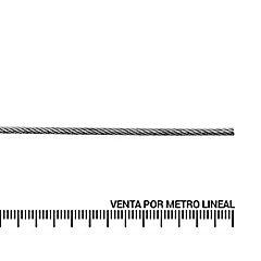 Cable de acero forro PVC 1/18