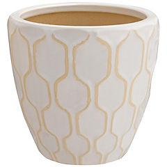 Macetero de cerámica 23x22 cm Blanco