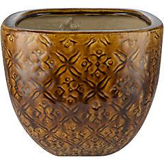 Macetero de cerámica 22x18 cm Tabaco