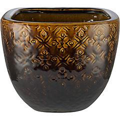 Macetero de cerámica 28x23 cm tabaco