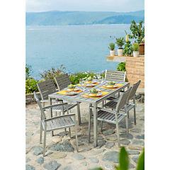 Juego comedor terraza 7 piezas Saint Barth aluminio/polywood