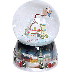 Bola agua Santa girando musical 10 cm