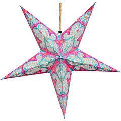 Estrella colapsable 20 led fucsia
