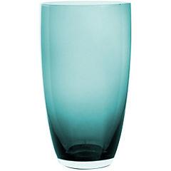 Vaso vidrio 350 ml azul