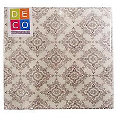 Juego de servilletas papel 33x33 cm beige 20 unidades