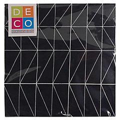 Juego de servilletas Papel 33x33 cm negra 20 unidades
