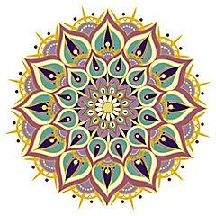 Sticker Mandala multicolor 14,5 cm