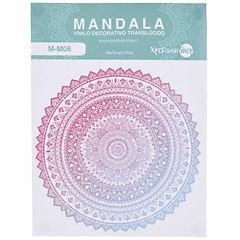 Sticker Mandala rosado 14,5 cm