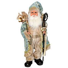 Santa con bastón y regalos dorado 65 cm