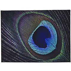 Canvas decorativo Feather Peacock 60x80 cm