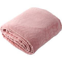 Frazada Zigzag rosado 1,5 plazas