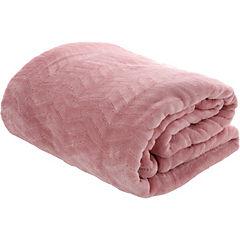 Frazada Zigzag rosado 2 plazas