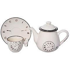Juego de té 5 piezas blanco