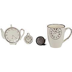 Juego de té 2 piezas blanco
