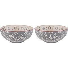 Set de 2 bowls 14x6 cm gris