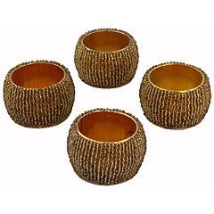 Set de 4 argollas servilleta oro