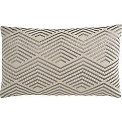 Cojín Líneas plata 30x50 cm