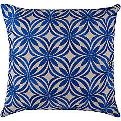 Cojín bordado azul 50x50 cm