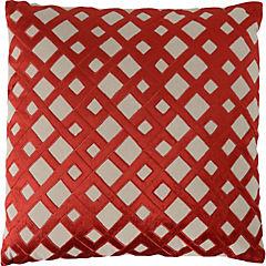 Cojín bordado rojo 50x50 cm