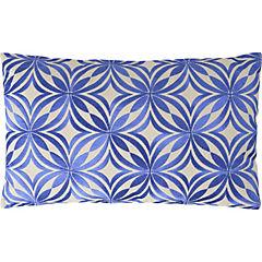 Cojín bordado Círculos azul 30x50 cm