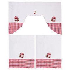 Set de cortinas para cocina Frasco 142x91 cm 2 paños rojo