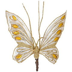 Mariposa 16 cm clip dorada