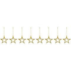 Set 8 forma estrella 7,5 cm dorado