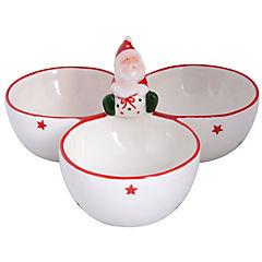Bowl 3 divisiones cerámica