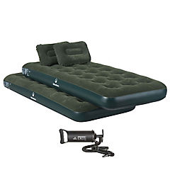 Combo 2 colchones inflables individuales + 2 almohadas + inflador