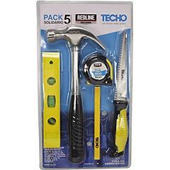 Set de herramientas acero 5 piezas