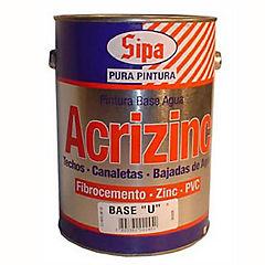 Pintura techo Acrizinc 1 galón Base P