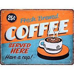 Lamina metálica Coffee Served 30x40 cm
