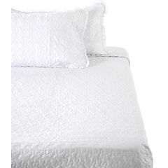 Quilt Broderie 180 hilos blanco king