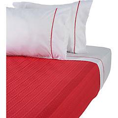 Quilt+sabanas rojo y gris king