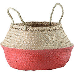 Portamaceta de seagrass 30x33x30 cm Rojo