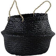Portamaceta de seagrass 36x35x36 cm Negro