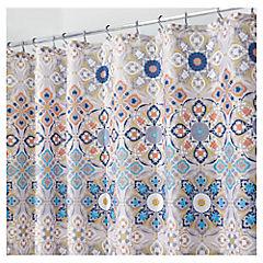 Cortina de baño Flor mosaico poliéster 180x180 cm