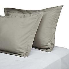 Funda para almohada algodón 50x70 cm taupé