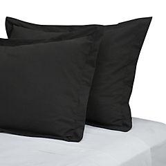 Funda de almohada negro 180 hilos 50x90 cm