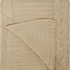 Manta tejida crudo 150x125 cm