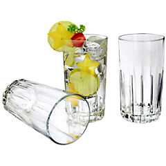 Set de vasos vidrio 390 ml 6 unidades