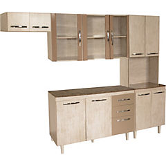 Kit muebles de cocina 198x240x48 cm aglomerado - Sodimac.com