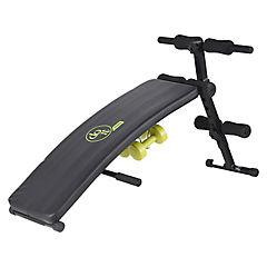 Banco de ejercicios con 2 pesas negro