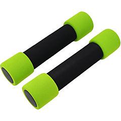 Mancuernas soft 2 piezas 3 kg verde