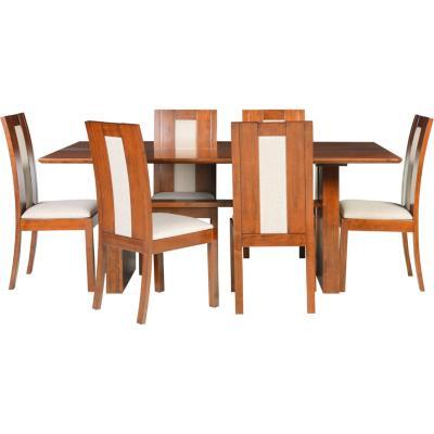 Comedor diva 6 sillas 190x110x77 cm for Sillas ergonomicas sodimac