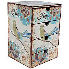 Caja 4 divisiones Pájaro azul 20x18x29 cm