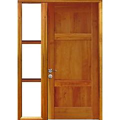 Puerta lenga 80x200 cm modelo 4 con mampara 30x200 cm derecha
